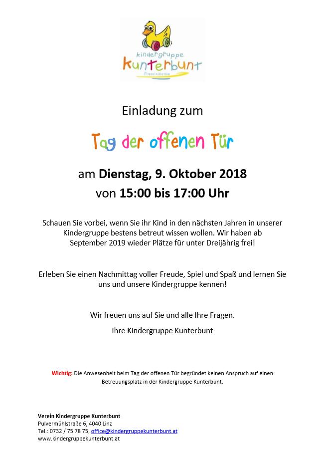 Tag der offenen Tür Oktober 2018